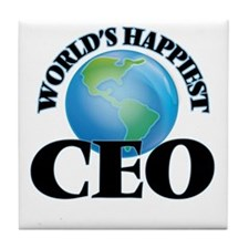 World's Happiest Ceo Tile Coaster