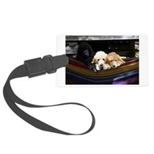 Standard Poodle Puppies Luggage Tag