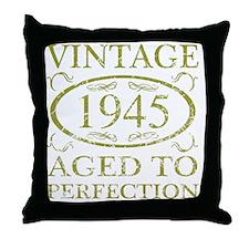 Vintage 1945 Throw Pillow