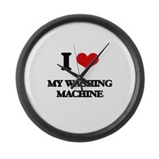 I love My Washing Machine Large Wall Clock
