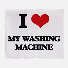 I love My Washing Machine Throw Blanket
