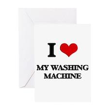 I love My Washing Machine Greeting Cards
