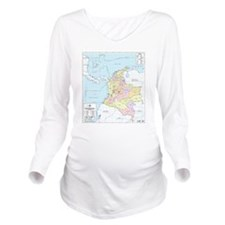 Colombia mapa oficial Long Sleeve Maternity T-Shir