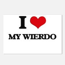 I love My Wierdo Postcards (Package of 8)