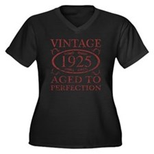 Vintage 1925 Women's Plus Size V-Neck Dark T-Shirt