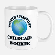 World's Happiest Childcare Worker Mugs