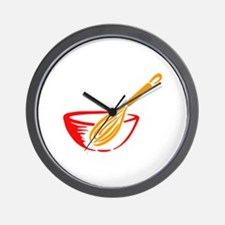 WHISK AND BOWL Wall Clock