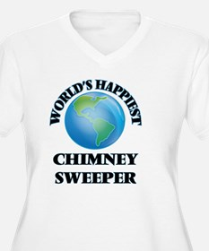 World's Happiest Chimney Sweeper Plus Size T-Shirt