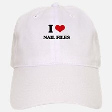 I Love Nail Files Baseball Baseball Cap