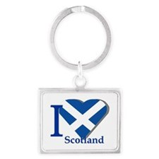 I Love Scotland Keychains