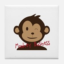 Monkey Business Tile Coaster