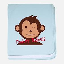 Monkey Business baby blanket
