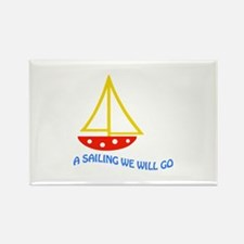 SAILING WE WILL GO APPLIQUE Magnets