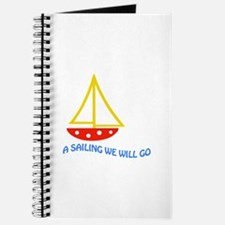 SAILING WE WILL GO APPLIQUE Journal