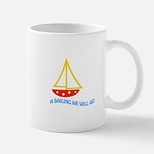 SAILING WE WILL GO APPLIQUE Mugs