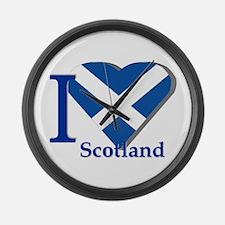 I Love Scotland Large Wall Clock