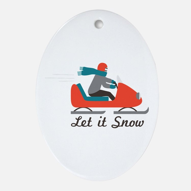 Let It Snow Ornament (Oval)
