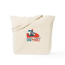 Snow Mobile Tote Bag