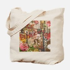 European Travel Vintage London Rome Paris Tote Bag