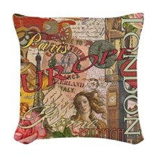 European Travel Vintage London Rome Paris Woven Th