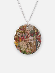 European Travel Vintage London Rome Paris Necklace