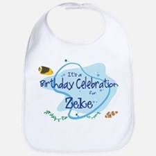 Celebration for Zeke (fish) Bib