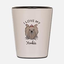 I Love My Yorkie Shot Glass