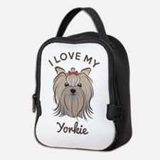 I Love My Yorkie Neoprene Lunch Bag