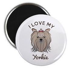 "I Love My Yorkie 2.25"" Magnet (10 pack)"