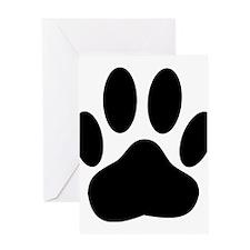 Dog Pawprint Greeting Cards