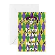 Keep Calm and Mardi Gras Greeting Cards