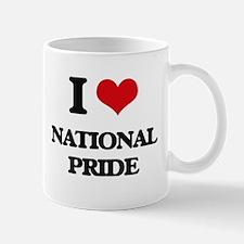 I Love National Pride Mugs