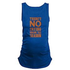 No Crying During Tax Season Maternity Tank Top