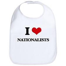 I Love Nationalists Bib