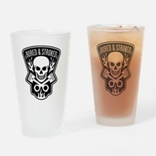 Skull and Pistons Biker Drinking Glass