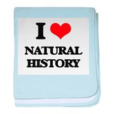 I Love Natural History baby blanket