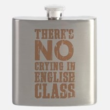 No Crying in English Class Flask