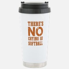 No Crying in Softball Travel Mug