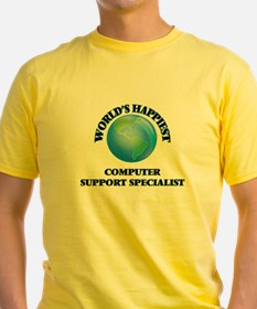 World's Happiest Computer Support Speciali T-Shirt