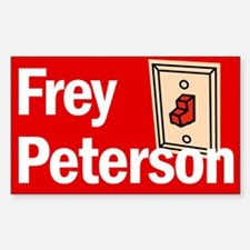 Rectangle Sticker. Frey Peterson.