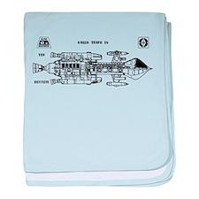 Space: 1999 - Hawk Mark IX baby blanket