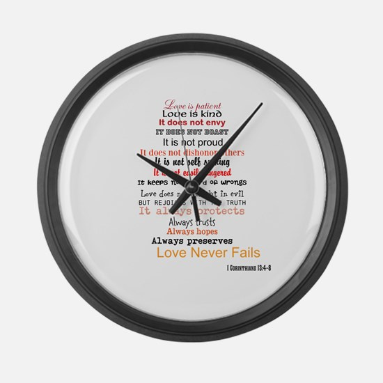 1 Corinthians 13 Large Wall Clock