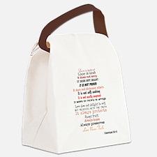 1 Corinthians 13 Canvas Lunch Bag