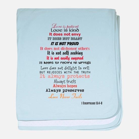 1 Corinthians 13 baby blanket