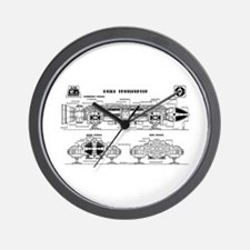 Space: 1999 - Eagle Transporter Wall Clock