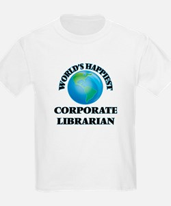 World's Happiest Corporate Librarian T-Shirt