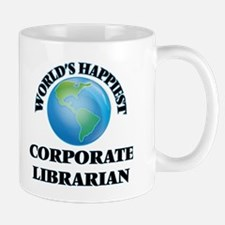 World's Happiest Corporate Librarian Mugs