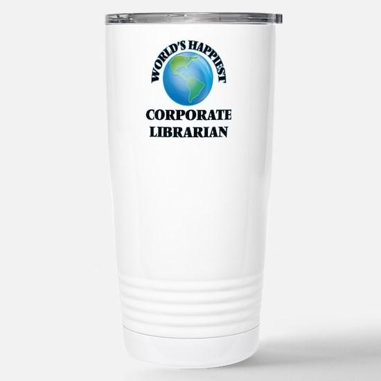 World's Happiest Corpor Stainless Steel Travel Mug