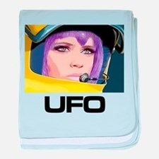 Moonbase Girl UFO SHADO baby blanket