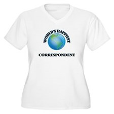 World's Happiest Correspondent Plus Size T-Shirt